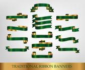 Fényképek Zöld szalag bannerek