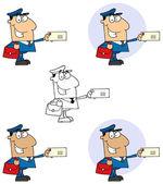 poštovní pracovník pošty muž
