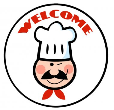Welcome Chef Face Circle