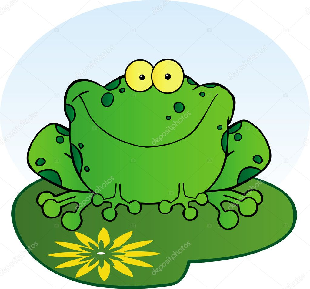 happy frog on a lilypad u2014 stock photo hittoon 8426010