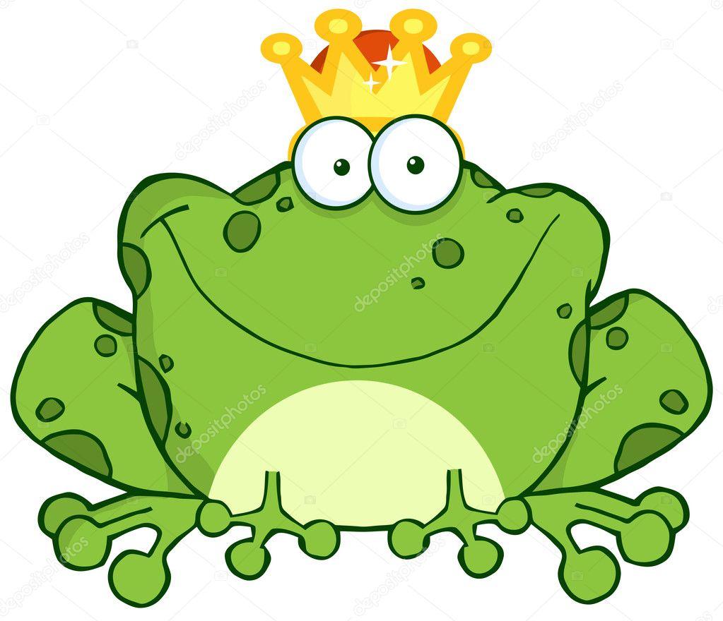Frosch prinz cartoon figur — stockfoto hittoon