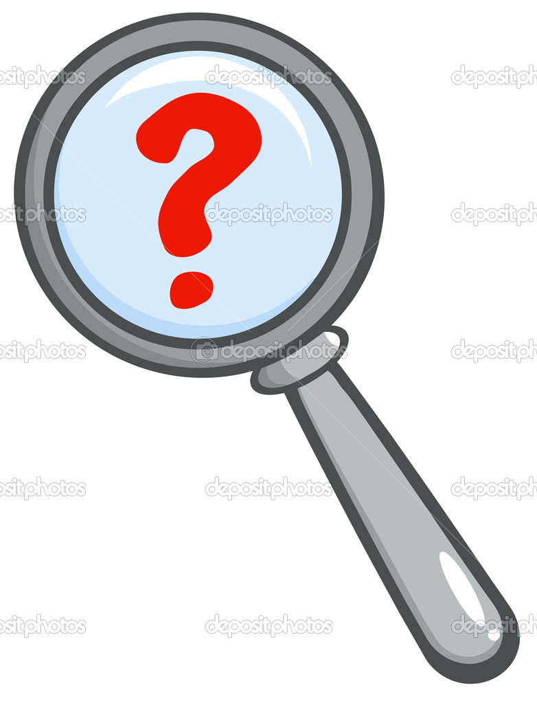 3d person with magnifying glass and question mark stock images image - Magnifying Glass With Question Mark Stock Photo 9323290