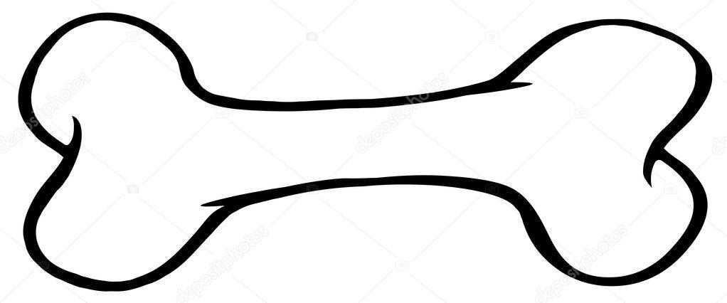 contorneado de hueso de perro — Fotos de Stock © HitToon #9793810