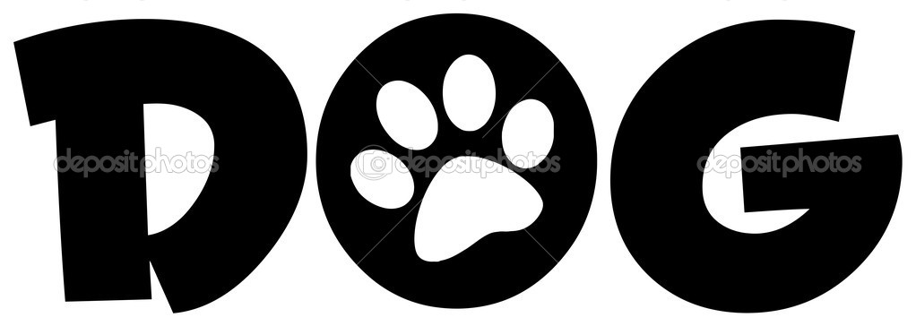 Dog Text With Paw Print Stock Photo 169 Hittoon 9882769