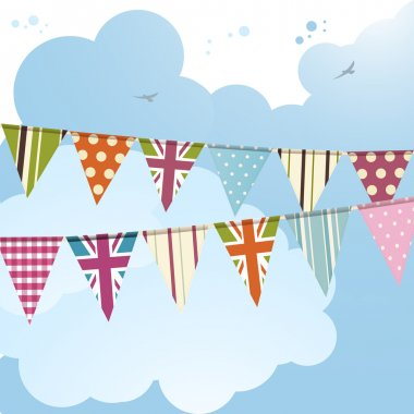 Bunting and blue sky 2
