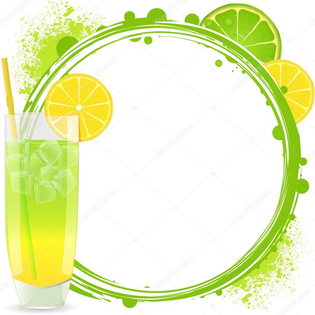 cocktail border background stock vector elaineitalia 10660842 rh depositphotos com