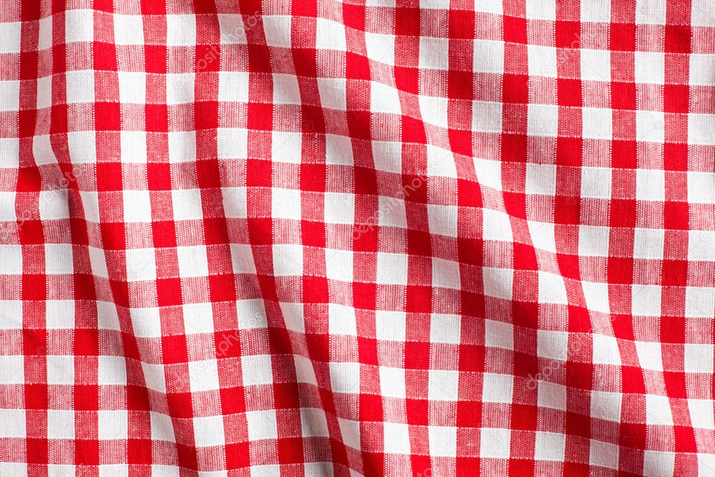 Red amp White Checkered Plastic Tablecloth  Oriental Trading