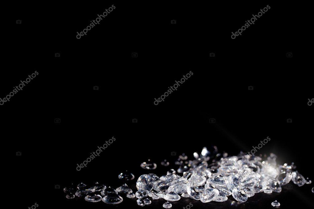 Diamonds on a blackbackground