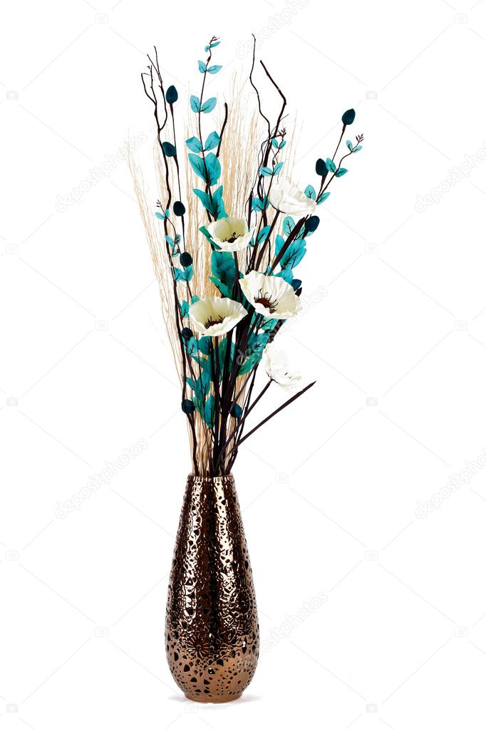 Pictures Tall Vase Flower Arrangements Tall Stylish Flower Arrangement In A Vase Isolated Stock Photo C Mreco99 8532696
