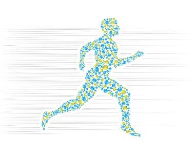 Human body illustration jogging stock vector