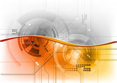 Photo Orange tech wave