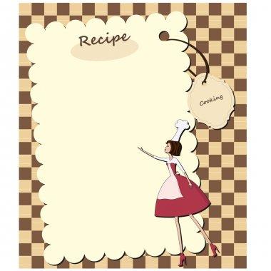 Blank recipe card