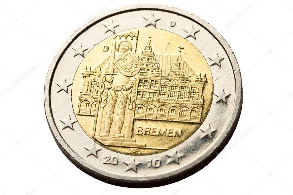 Rückseite 2 Euro Münze