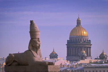 A Granite sphinx in St. Petersburg