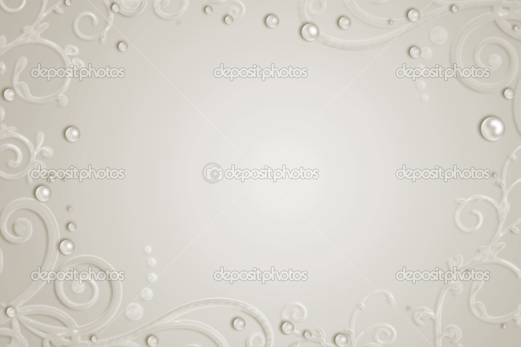Abstract background with pearls, swirl