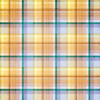 Plaid striped background with pastel blue, green, gold, orange a