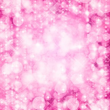 Background of defocussed pink lights with sparkles