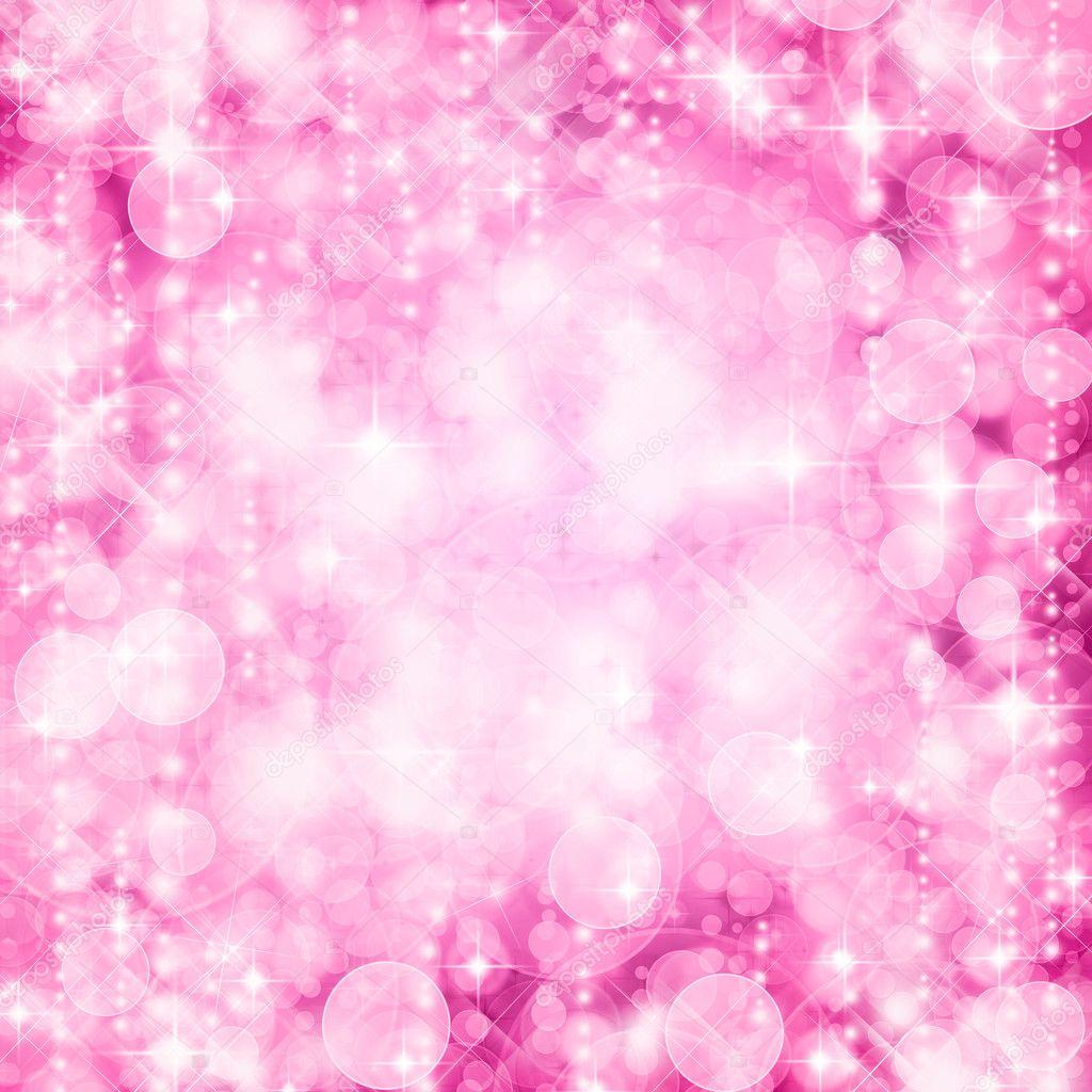 Background of defocussed pink lights with sparkles