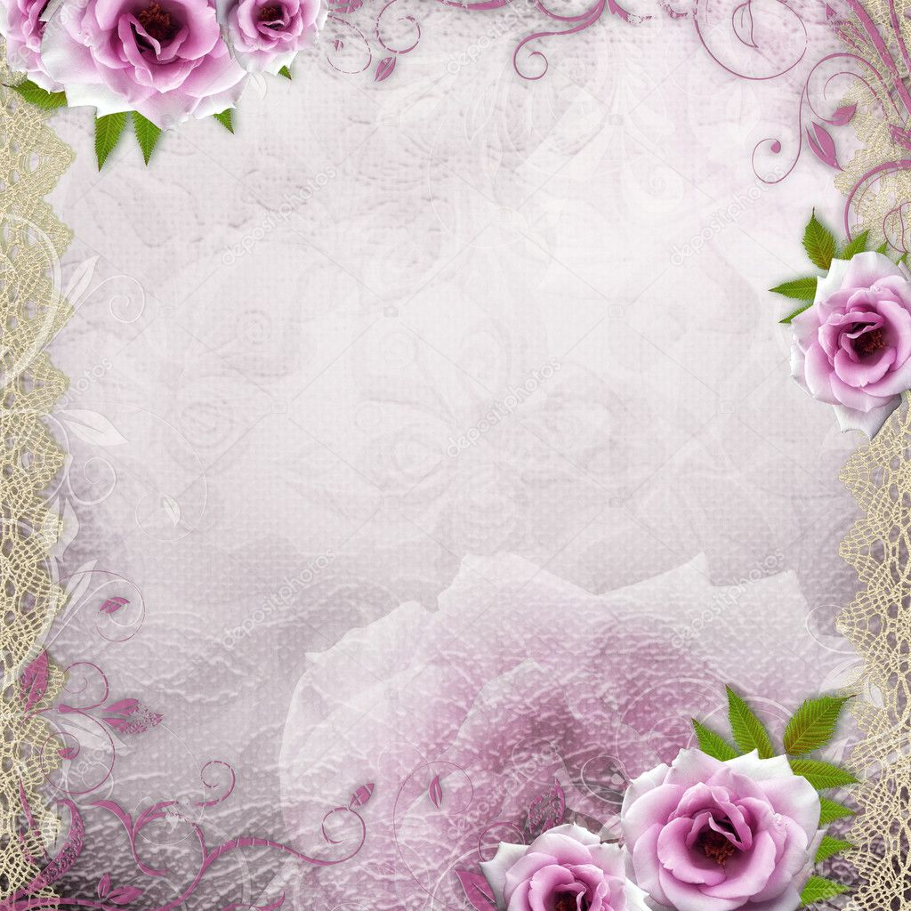 Фон сиреневый свадебный
