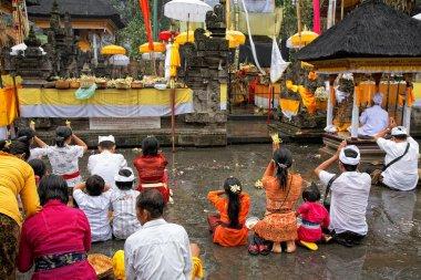 Prayers at Puru Tirtha Empul temple, Bali, Indonesia
