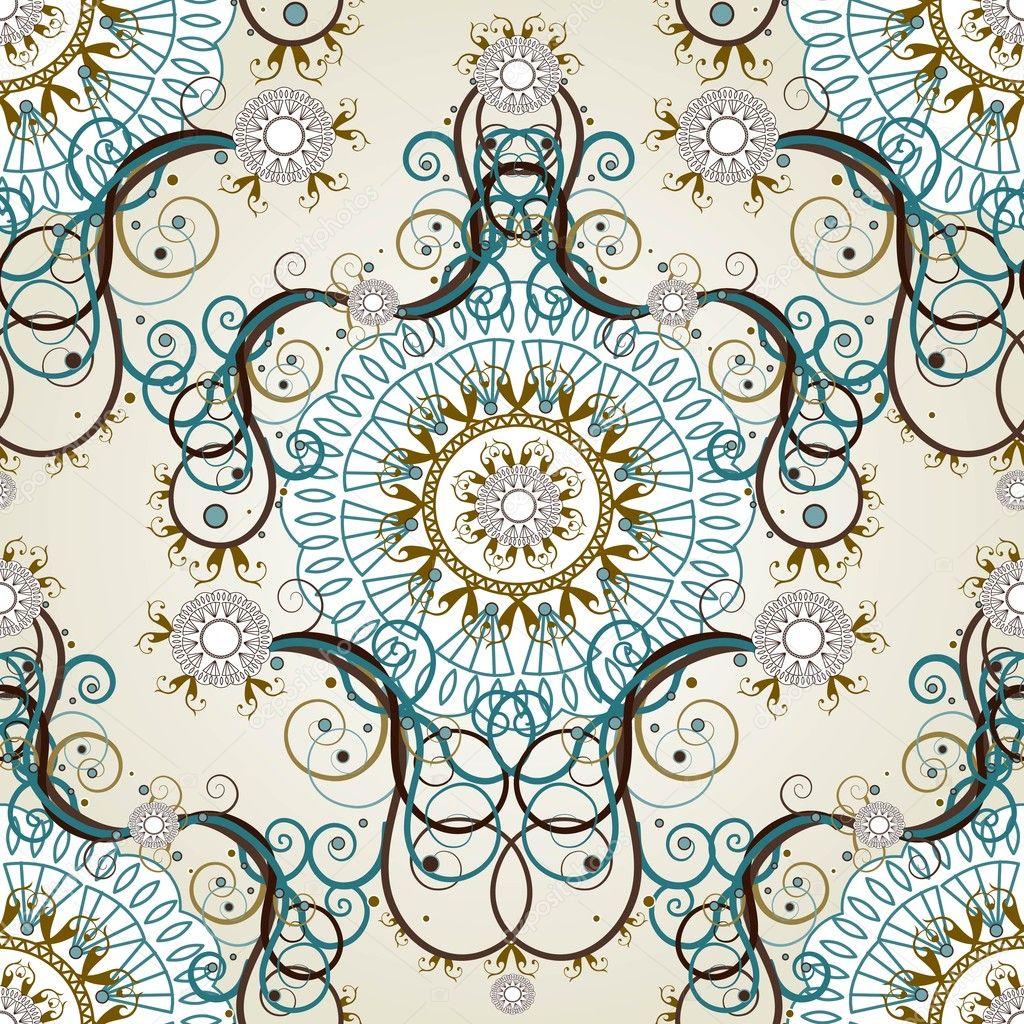Luxus floral vintage tapete stockvektor juliet 8028545 for Tapete vintage