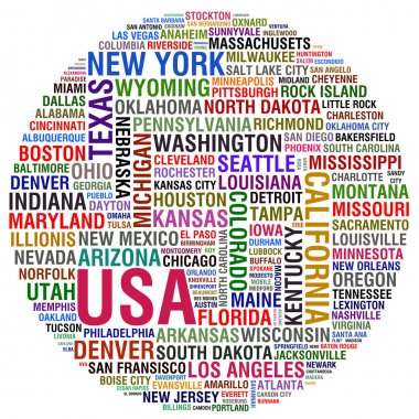 USA STATES AND CITIES