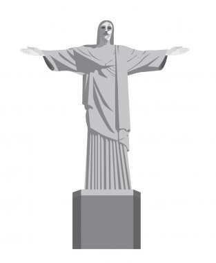 Christ redeemer vector illustration