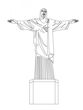 Christ redeemer vector
