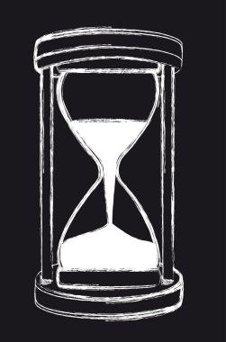grunge hourglass