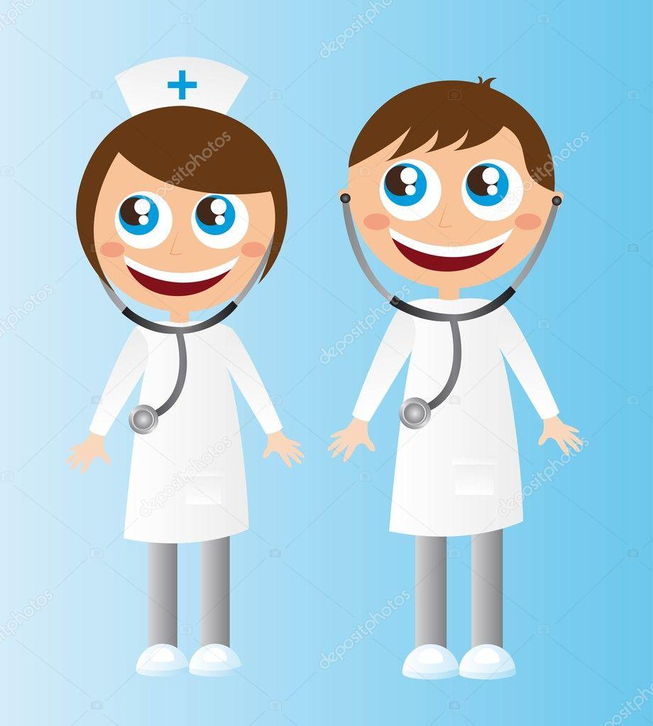 dibujos animados de los doctores — archivo imágenes vectoriales
