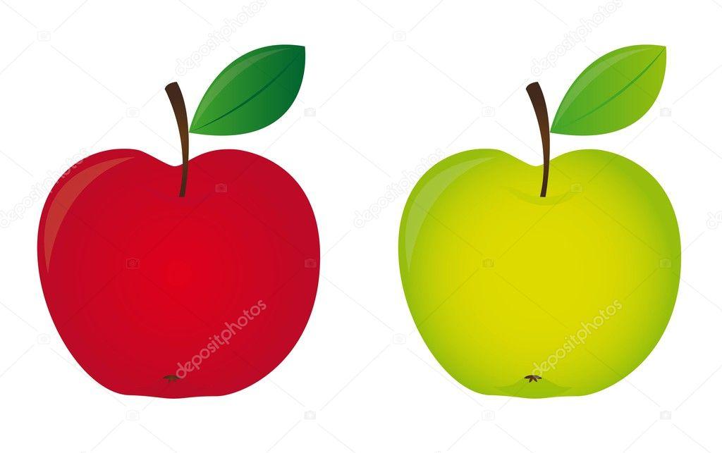 Картинка на белом фоне яблоко
