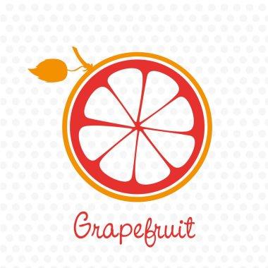 simplified silhouette of grapefruit