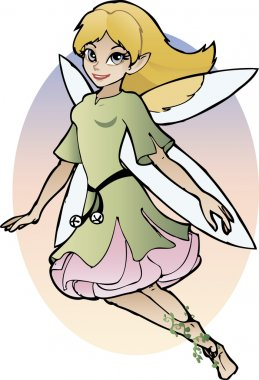 Cartoon fairy girl