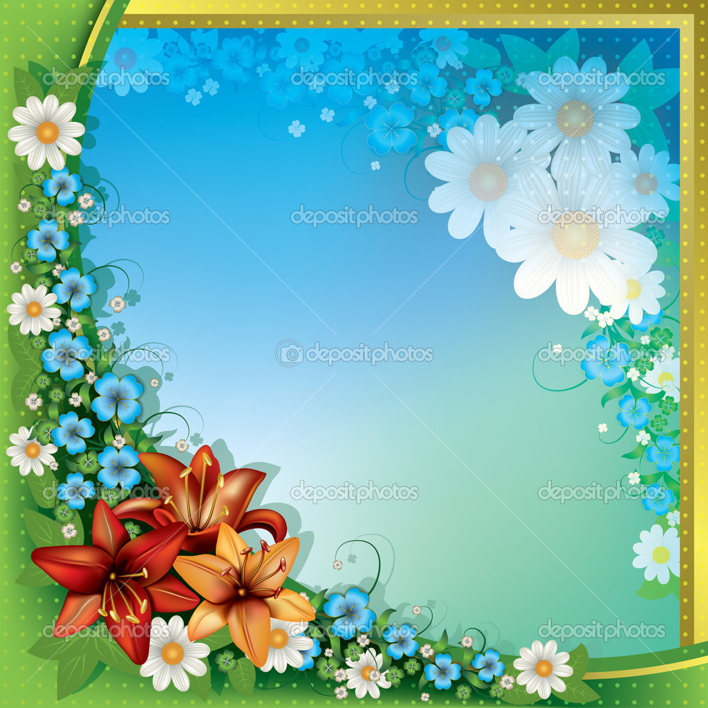 Abstract Spring Floral Background Stock Vector C Lembit