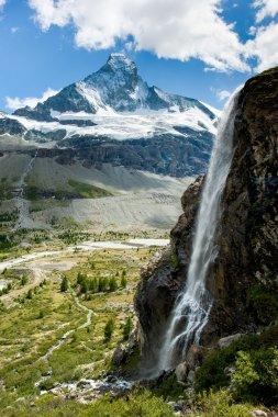Matterhorn with waterfal