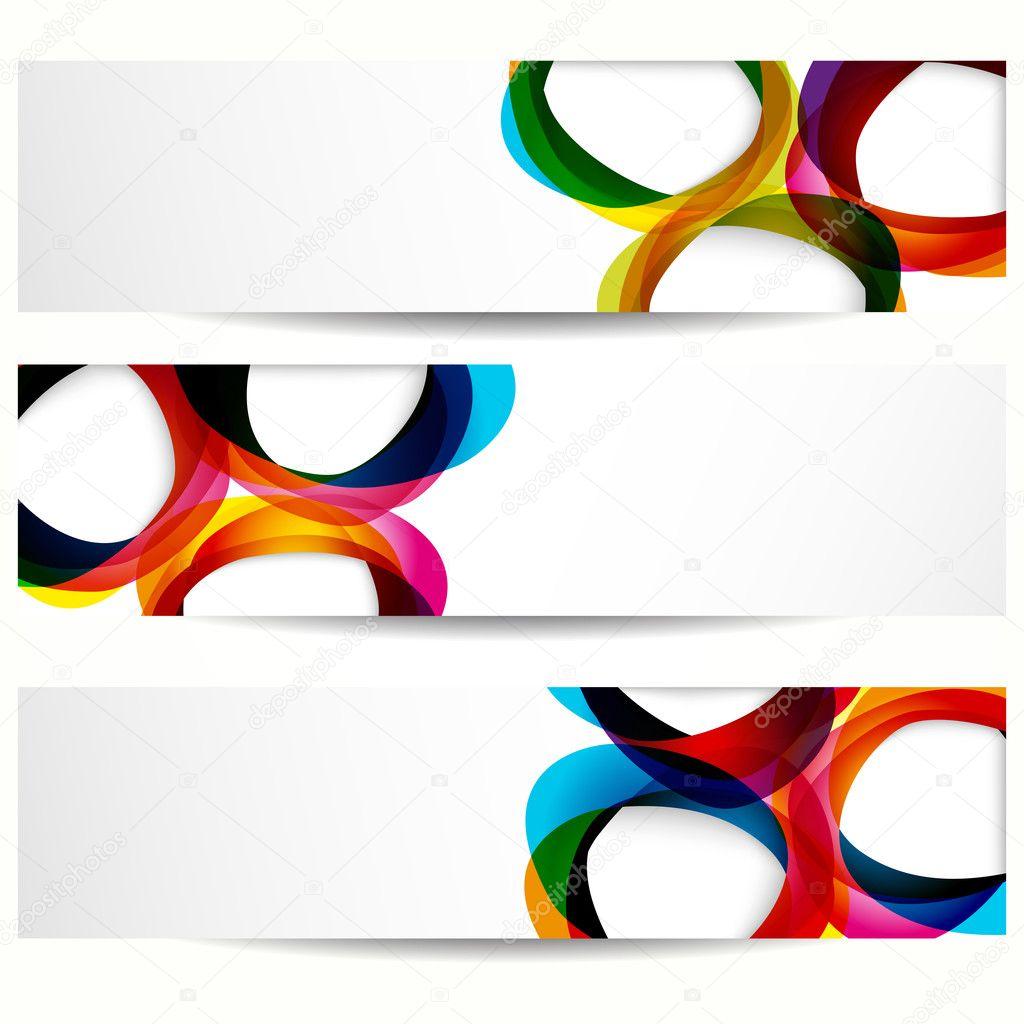 banner abstracto con formas de Marcos vacíos para su diseño web ...
