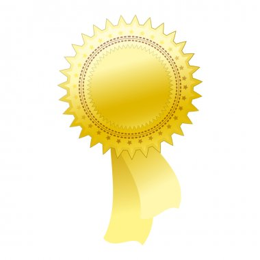 Gold seal - Illustration for your design.