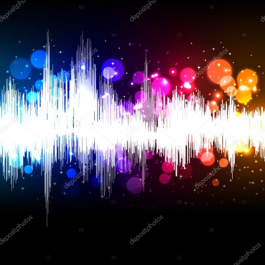 Waveform music background — Stock Vector © OlgaYakovenko #9821022
