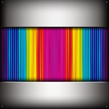 Abstract background with colorful metallic pipes.