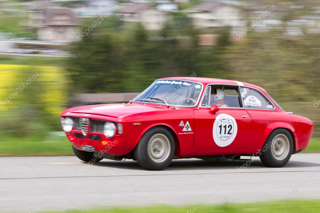 Awesome Vintage Race Touring Car Alfa Romeo Giulia Sprint GT From 1965 U2014 Stock Photo
