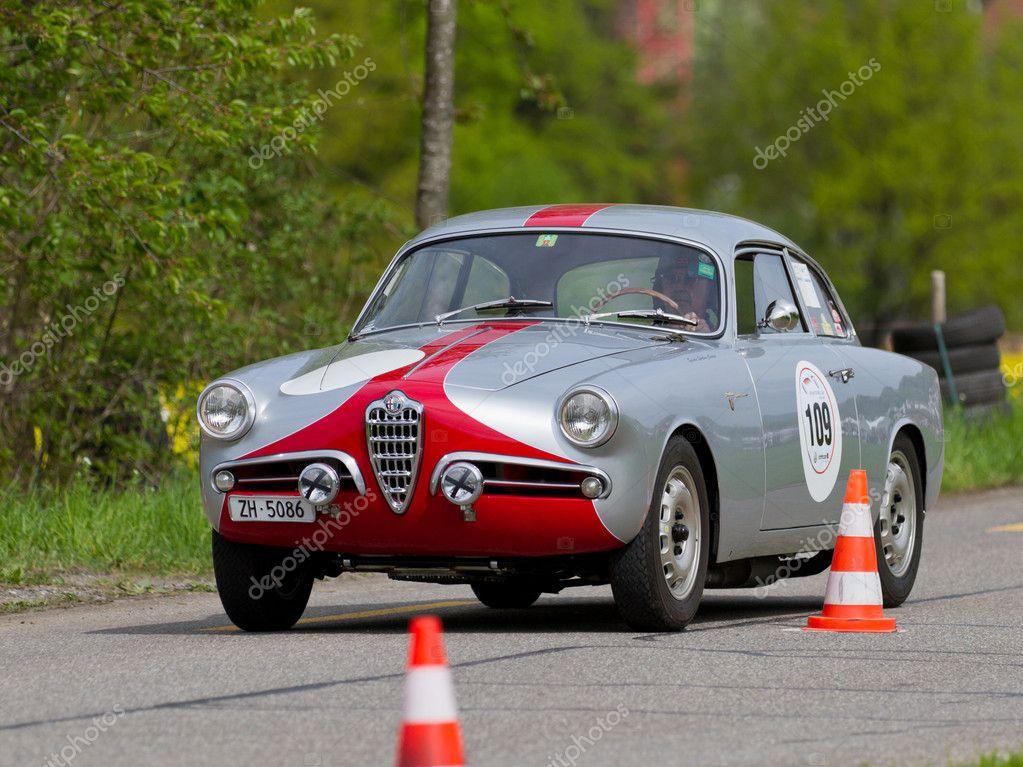 Vintage Race Touring Car Alfa Romeo Giulietta Sprint Veloce S1 From 1957 U2014  Stock Photo
