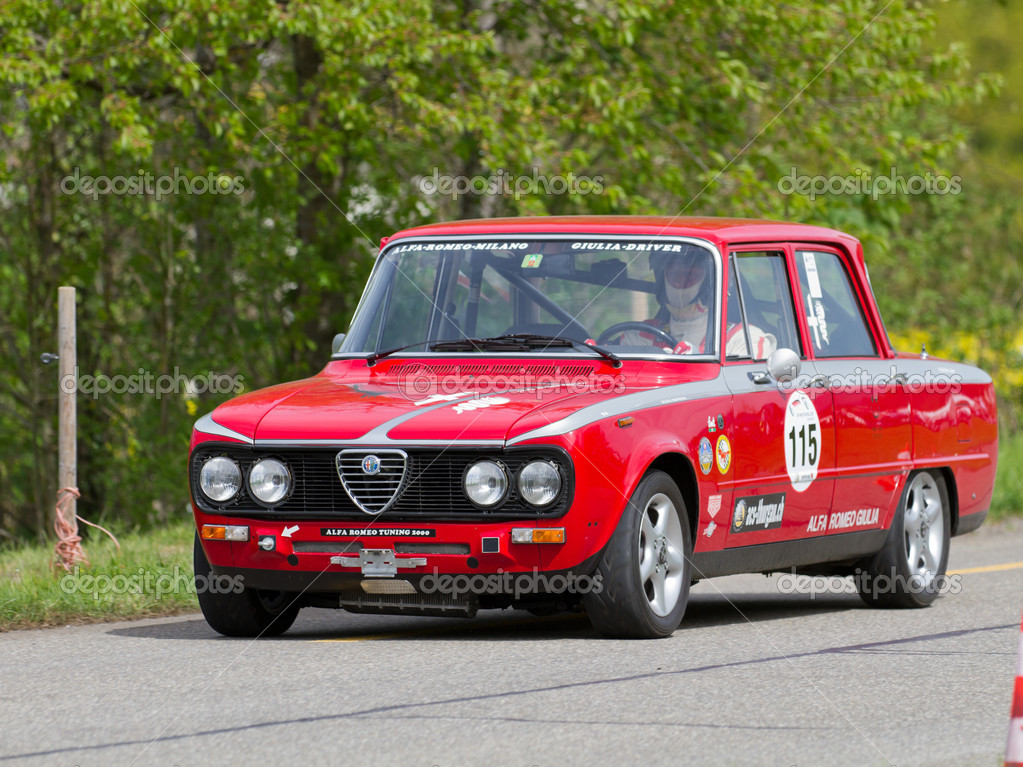 Amazing Vintage Race Touring Car Alfa Romeo Giulia From 1976 U2014 Stock Photo