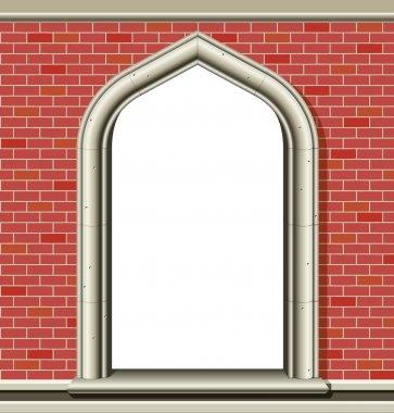 Arched window - bricks