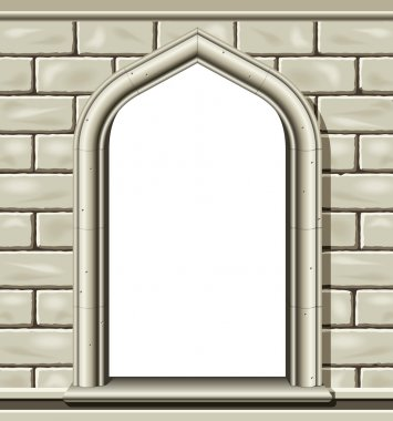 Arched window - stone