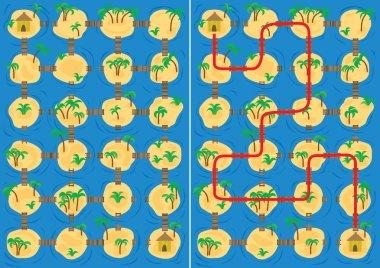 Islands maze