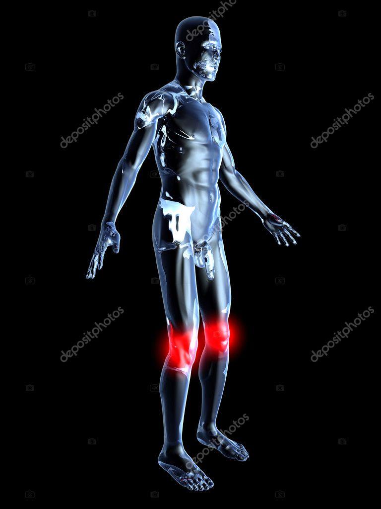 dolor de rodilla - anatomía — Fotos de Stock © Spectral #9772401