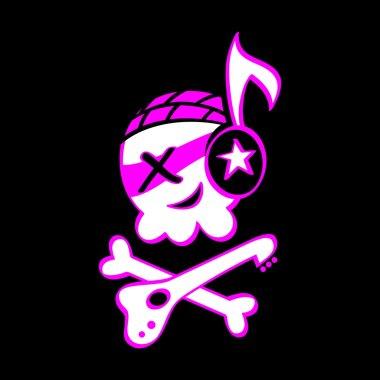 Rock skull symbol