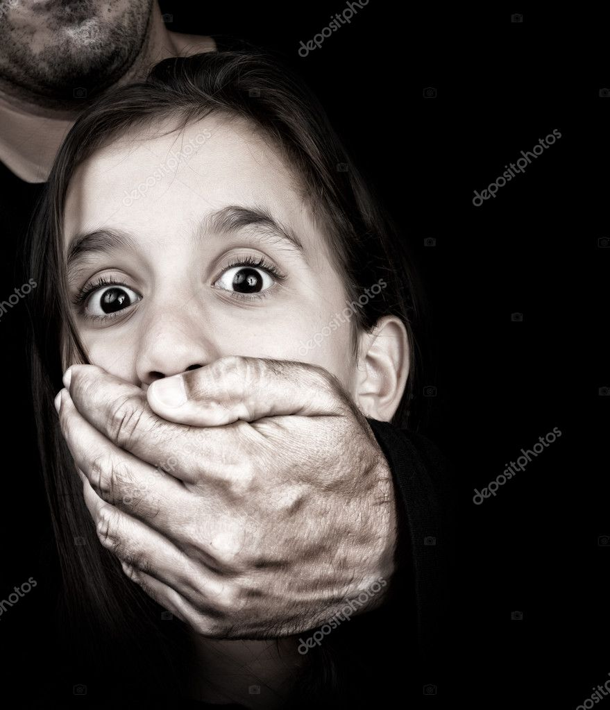 Abuse: Child Being Abused And Silenced