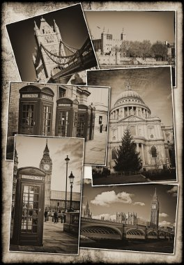 Old postcards of London