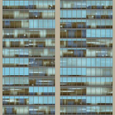Seamless pattern resemblng high rise building windows